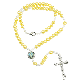 Yellow pearls rosary