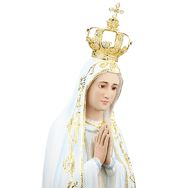 Nossa Senhora de Fátima - Pasta de madeira 80 cm