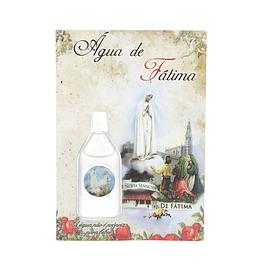 Água de Fátima com cartão