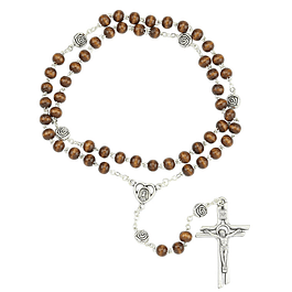 Wooden rosary with roses