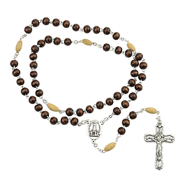 Rosary with olive tree seed