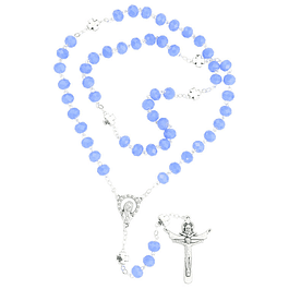 Crystal rosary with cross