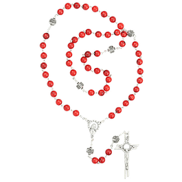 Coral Stone Rosary