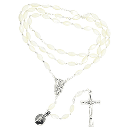 Mother of pearl oval rosary