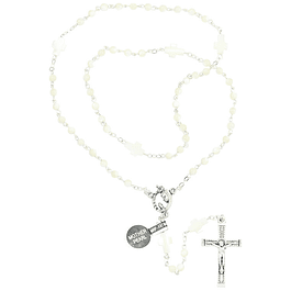 Rosary mother of pearl and cross