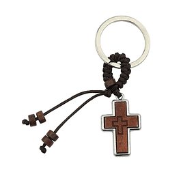 Keyring with cross