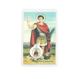 Cartão com oração de Santo Expedito