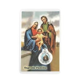 Cartão com oração Sagrada Familia