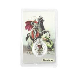 Cartão com oração São Jorge