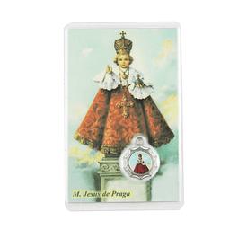 Cartão com oração a Menino Jesus de Praga