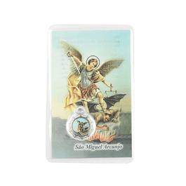 Cartão com oração a São Miguel Arcanjo