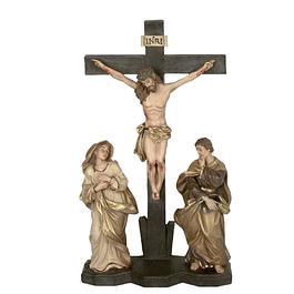 Cristo com Maria e São João Evangelista 30 cm