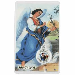 Cartão com oração a São Gabriel