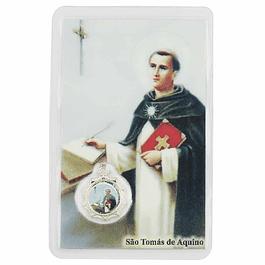 Cartão com oração a São Tomás de Aquino