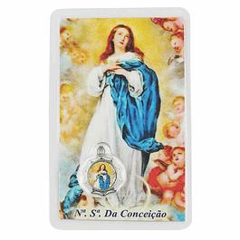 Cartão com oração Nª Sª da Conceição
