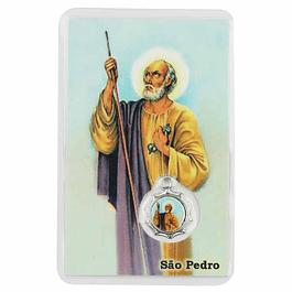 Cartão com oração de São Pedro