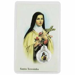 Cartão com oração a Santa Teresinha