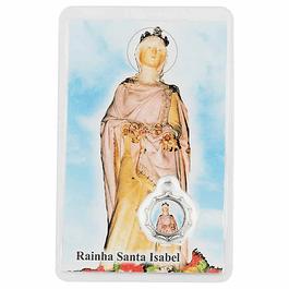 Cartão com oração a Santa Isabel