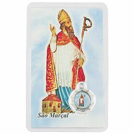 Cartão com oração a São Marçal