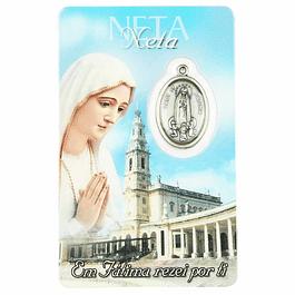 Pagela com dedicatória a Neta