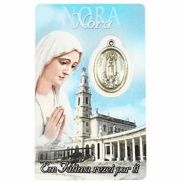Cartão com dedicatória a Nora