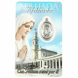 Cartão com dedicatória a Afilhada