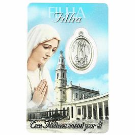 Cartão com dedicatória a Filha