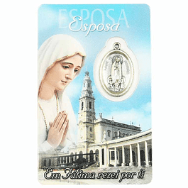 Cartão com dedicatória a Esposa