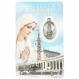 Cartão com dedicatória a Afilhado