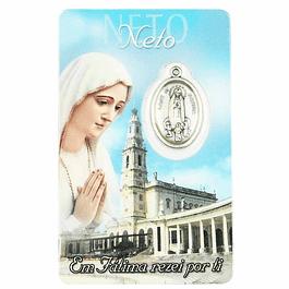 Cartão com dedicatória a Neto