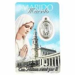 Cartão com dedicatória a Marido