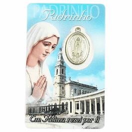 Cartão com dedicatória a Padrinho