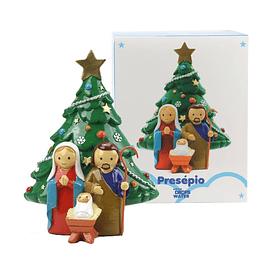 Pinheiro de Natal e Sagrada Família