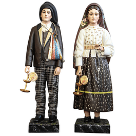 San Francisco and Saint Jacinta - wood