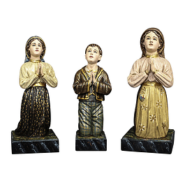 Little Shepherds of Fatima 3 statues - Wood