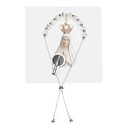 Pulseira católica com cristal Swarovski