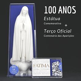 Terço e imagem dos 100 anos de Fátima