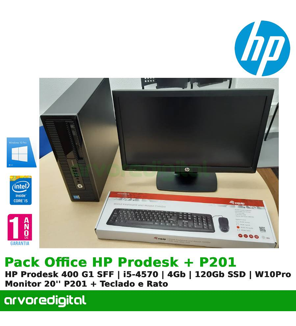 Pack Office HP Prodesk + Monitor P201