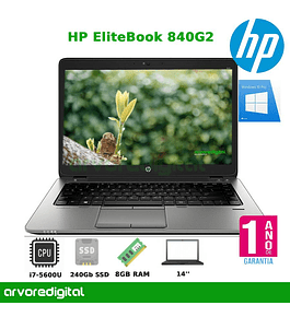 HP Elitebook 840 G2 | i7-5600U | 8Gb | 240Gb SSD | 14"