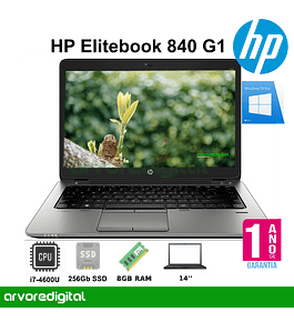 HP EliteBook 840G1 | i7-4600U | 8GB | 256GB SSD | W10PRO