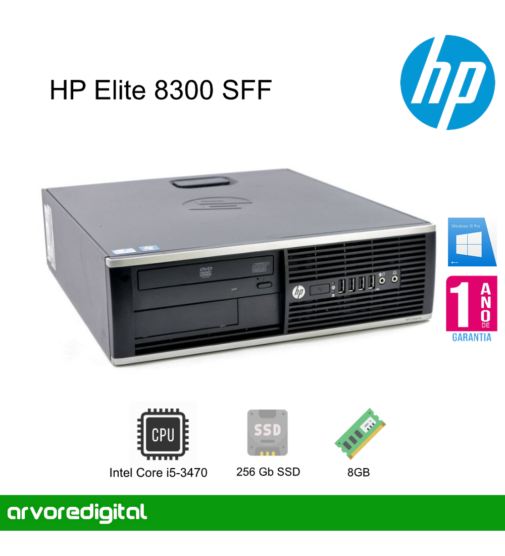 HP Elite 8300 SFF | i5-3470 | 8Gb | 256Gb SSD | DVD | W10Pro