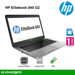 HP Elitebook 840 G2 | i5-5200U | 8Gb | 256Gb SSD | 14"
