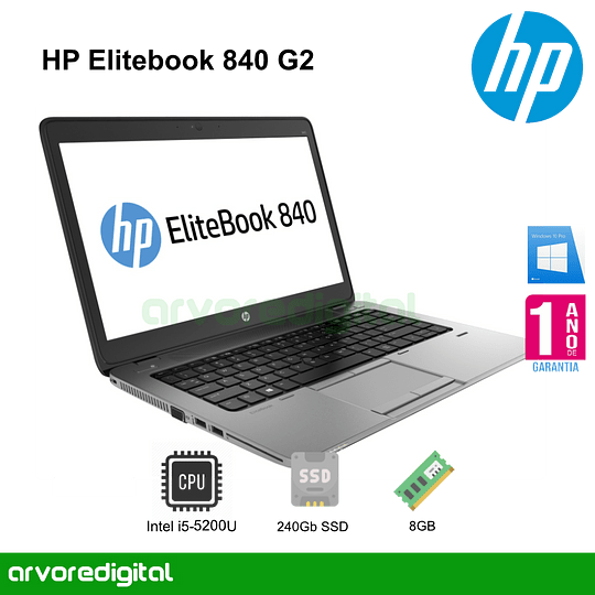 HP Elitebook 840 G2 | i5-5200U | 8Gb | 256Gb SSD | 14