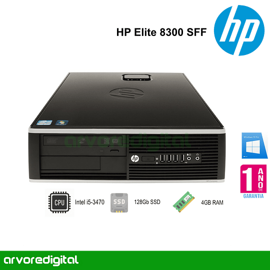 HP Elite 8300 SFF | i5-3470 | 4Gb | 128Gb SSD | DVD | W10Pro