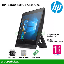 "HP ProOne 400 G2 AIO | I5-6400T | 8GB | 256Gb SSD | 20"" NON-TOUCH 