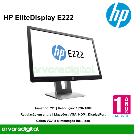 HP EliteDisplay E222 FULLHD