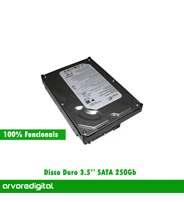 Disco Duro 3.5 Sata 250Gb Recondicionado