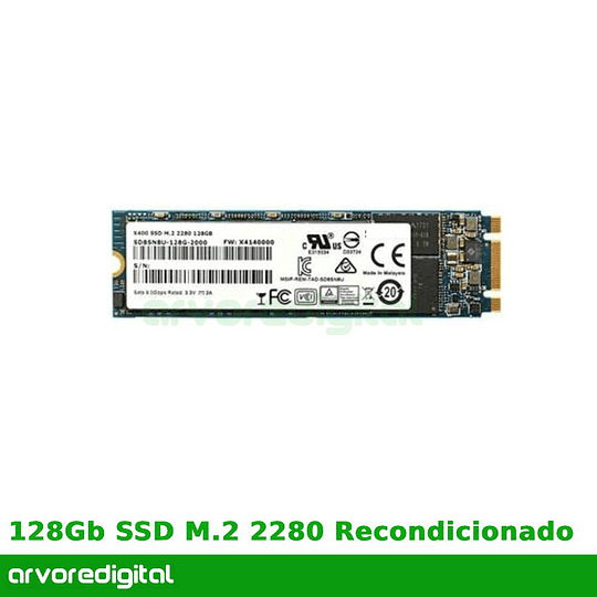 Disco Duro 128Gb  SSD M.2 2280 Recondicionado