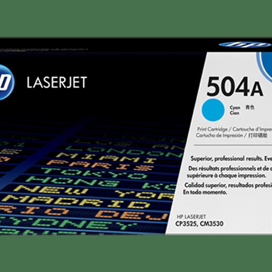 Toner impresora cyan 504A HP CE251A