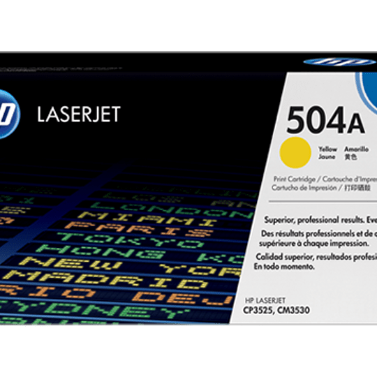Toner impresora amarillo 504A HP CE252A